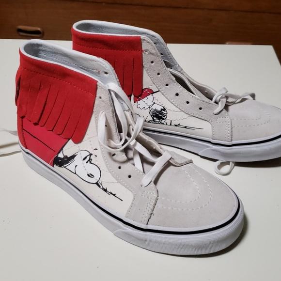bf4243a9161eb5 Peanuts Dog House Bone Van s Sk8-Hi Moc Sneakers. NWT. Vans